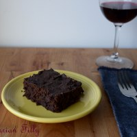 Chocolate Covered Coffee Bean Brownies